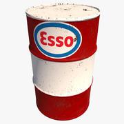 Barile da olio Esso 3d model