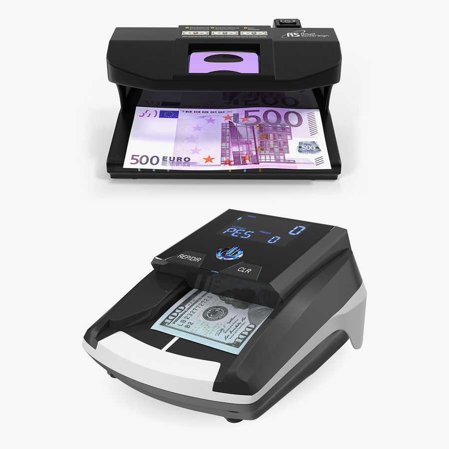 Currency Detectors Collection royalty-free 3d model - Preview no. 1