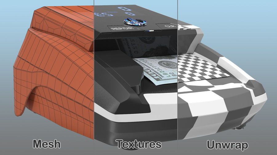 Currency Detectors Collection royalty-free 3d model - Preview no. 11