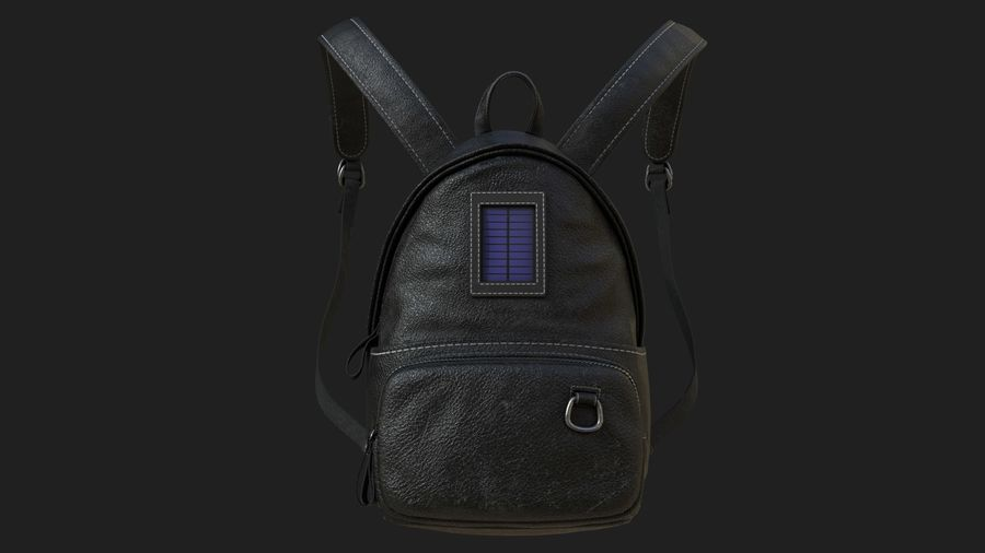 Backpack royalty-free 3d model - Preview no. 2