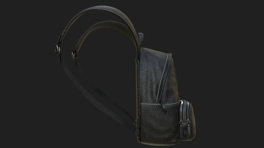 Backpack royalty-free 3d model - Preview no. 4