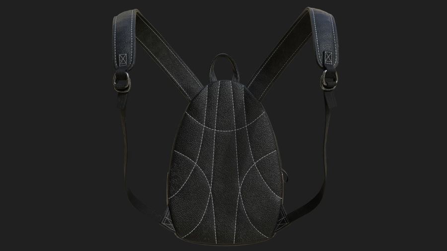 Backpack royalty-free 3d model - Preview no. 6