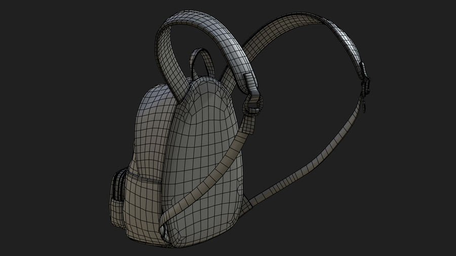 Backpack royalty-free 3d model - Preview no. 14