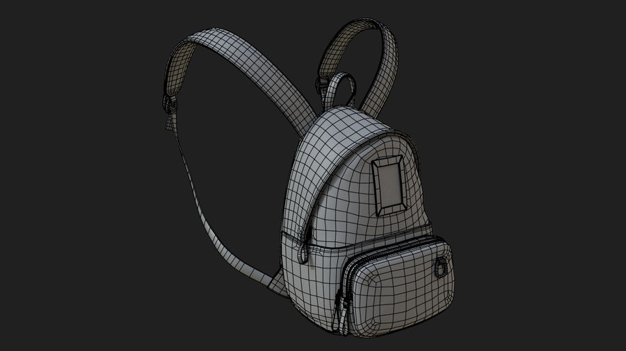 Backpack royalty-free 3d model - Preview no. 13