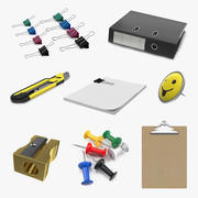 Stationery Collection 3d model