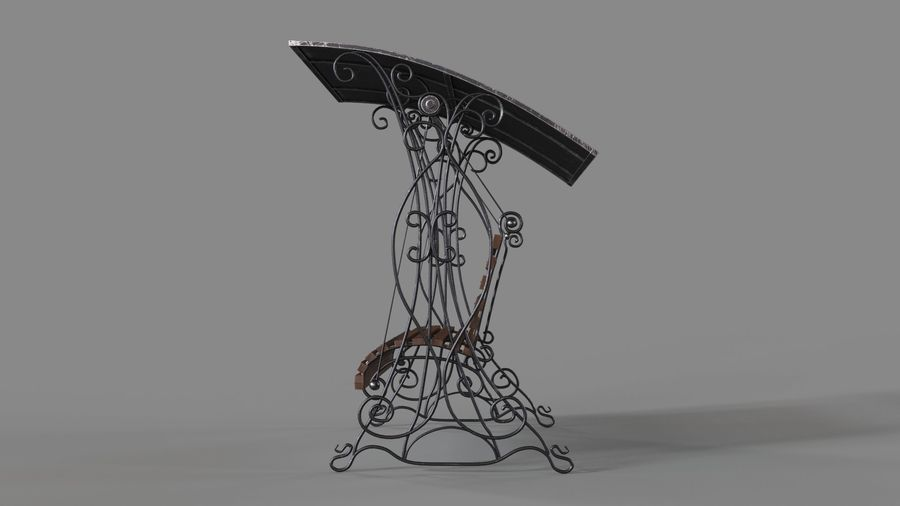 Bench Swing royalty-free 3d model - Preview no. 5