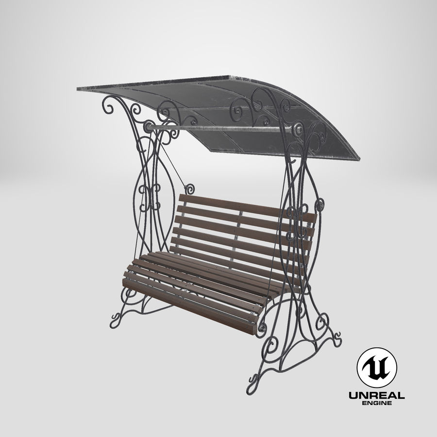 Bench Swing royalty-free 3d model - Preview no. 23
