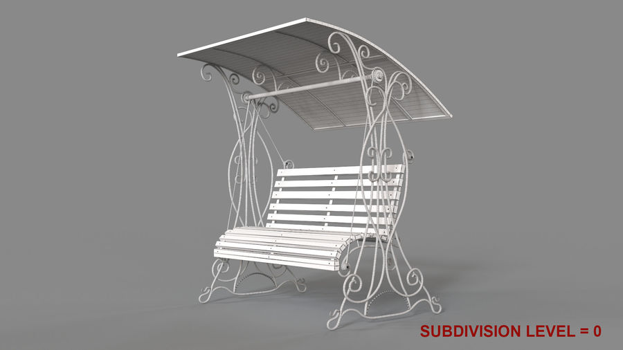 Bench Swing royalty-free 3d model - Preview no. 18