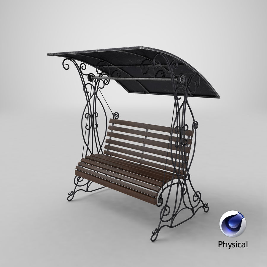 Bench Swing royalty-free 3d model - Preview no. 20