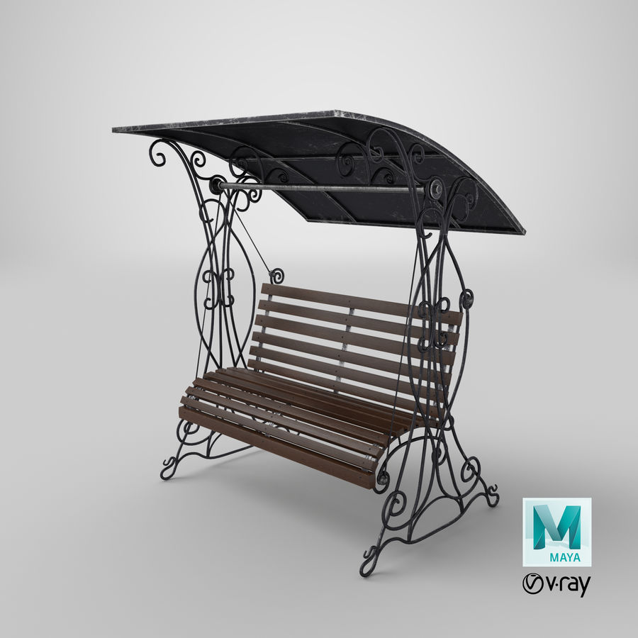 Bench Swing royalty-free 3d model - Preview no. 29