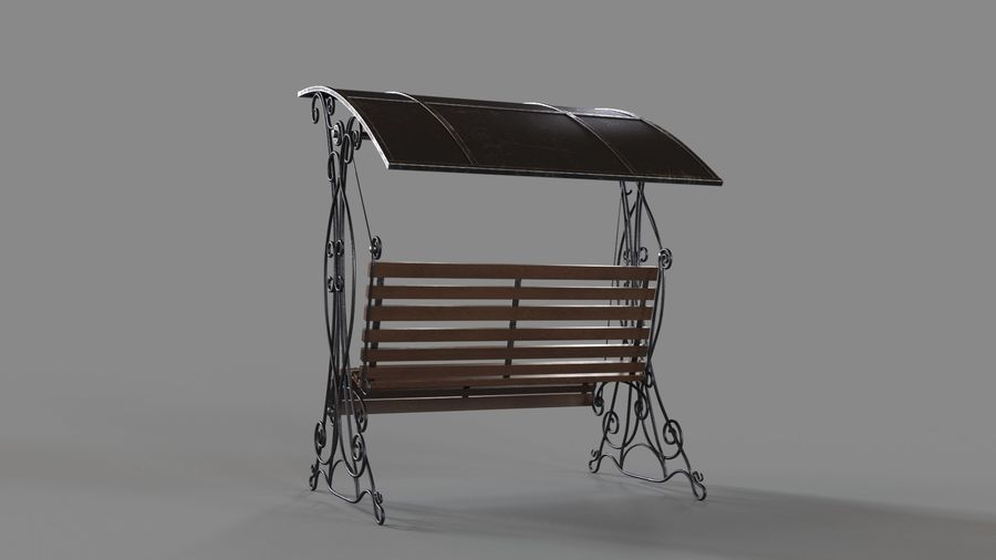 Bench Swing royalty-free 3d model - Preview no. 7