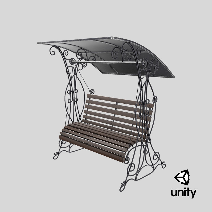 Bench Swing royalty-free 3d model - Preview no. 22