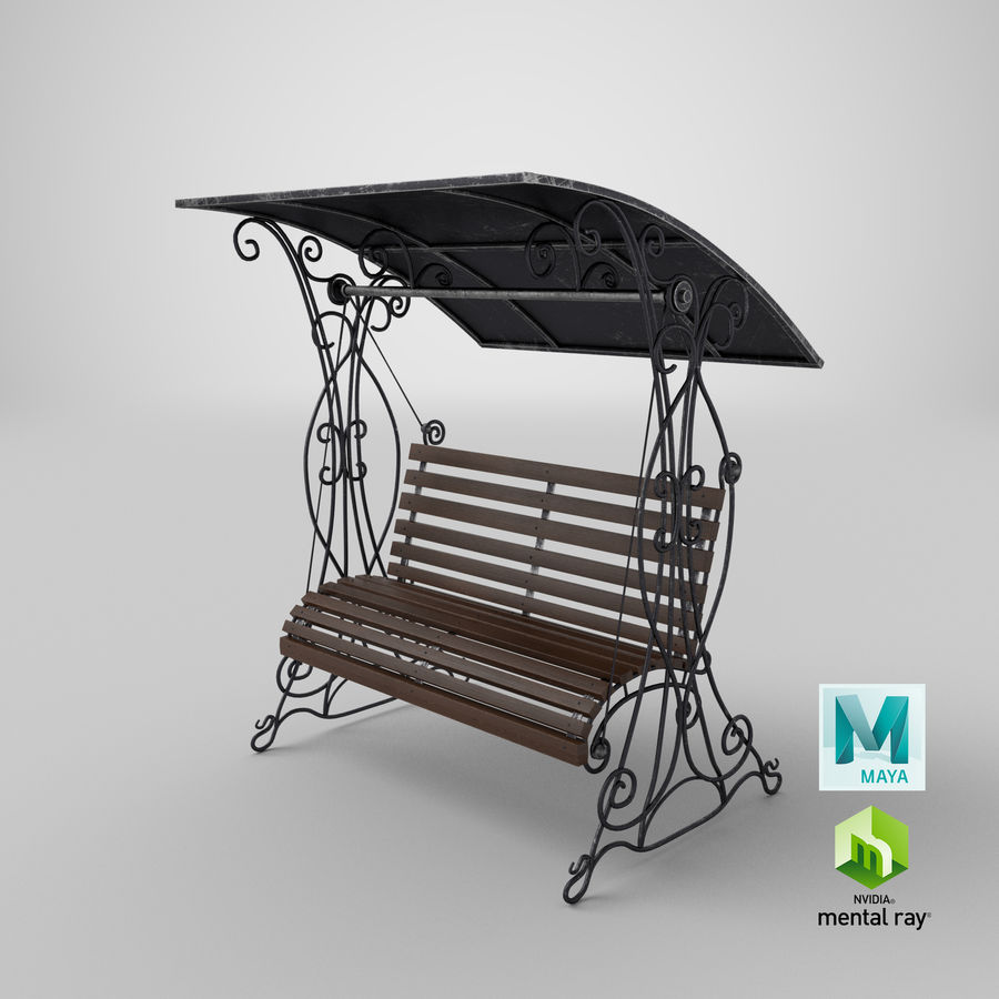 Bench Swing royalty-free 3d model - Preview no. 28