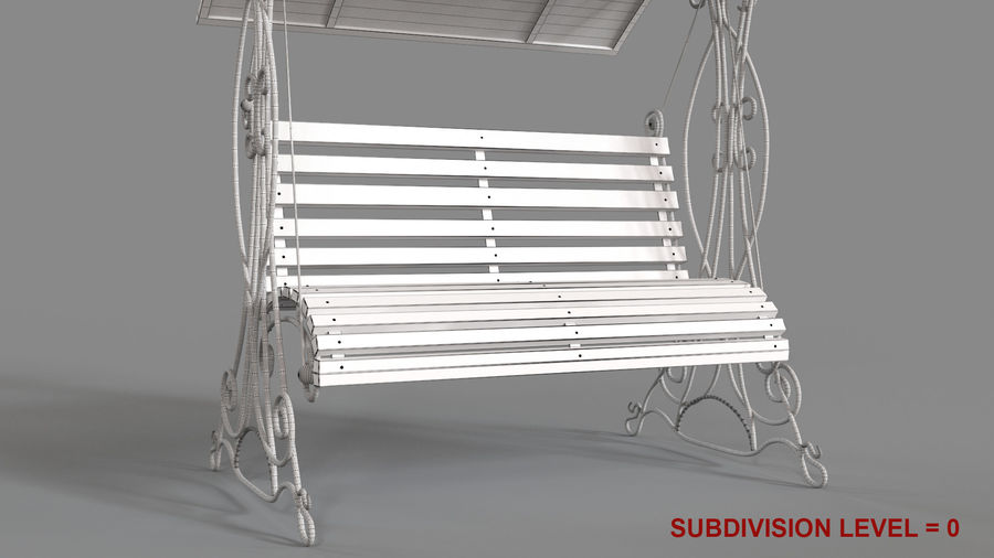 Bench Swing royalty-free 3d model - Preview no. 15
