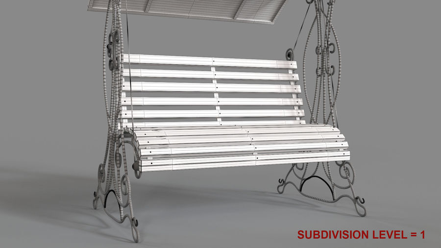 Bench Swing royalty-free 3d model - Preview no. 16