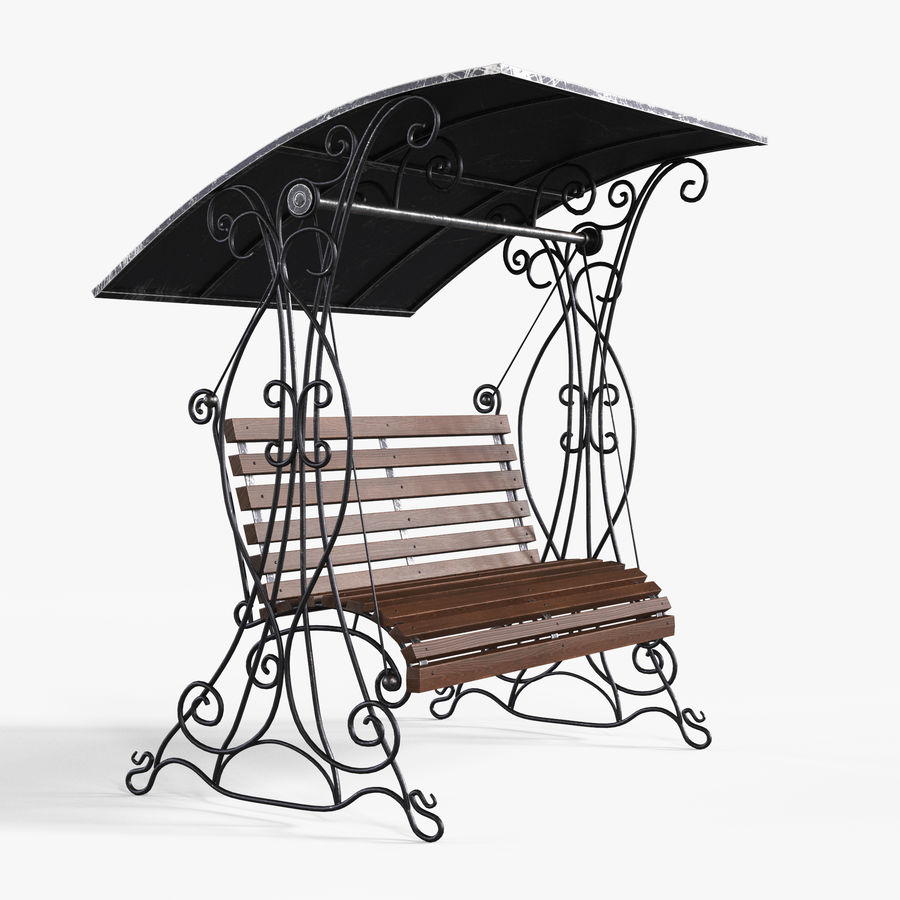 Bench Swing royalty-free 3d model - Preview no. 1