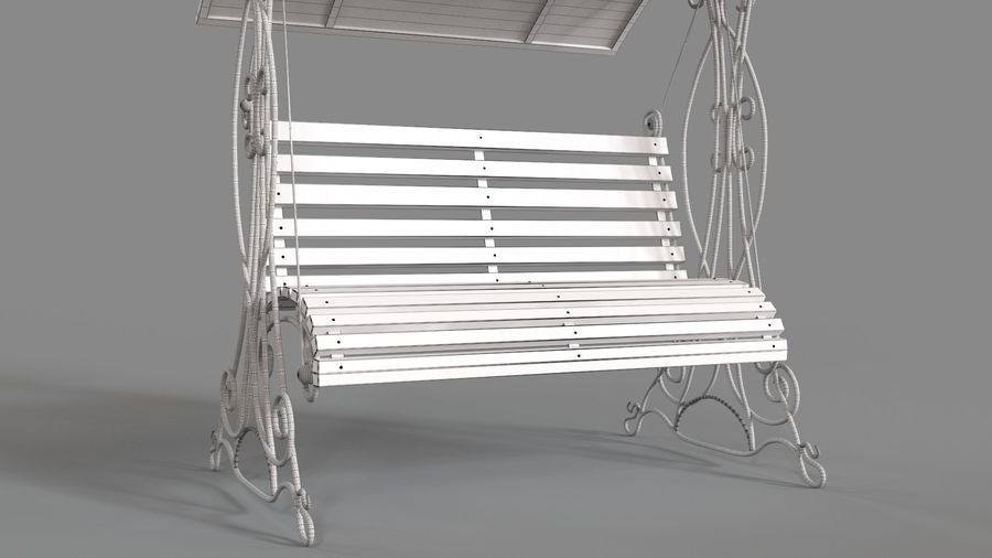 Bench Swing royalty-free 3d model - Preview no. 13