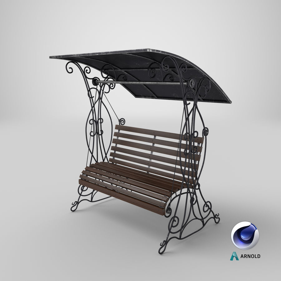 Bench Swing royalty-free 3d model - Preview no. 21