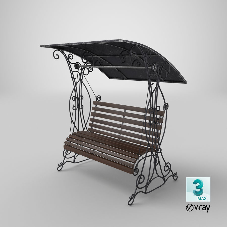 Bench Swing royalty-free 3d model - Preview no. 26
