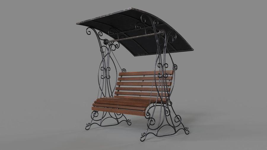 Bench Swing royalty-free 3d model - Preview no. 11