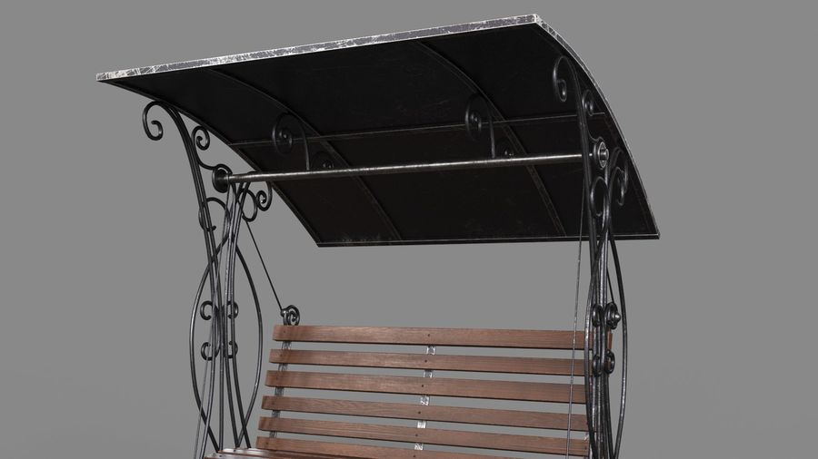Bench Swing royalty-free 3d model - Preview no. 8