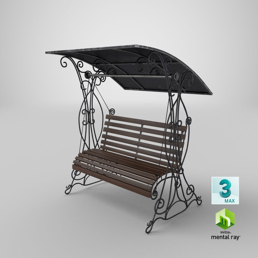 Bench Swing royalty-free 3d model - Preview no. 25