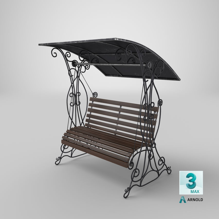 Bench Swing royalty-free 3d model - Preview no. 24