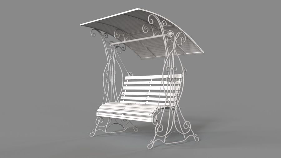 Bench Swing royalty-free 3d model - Preview no. 12