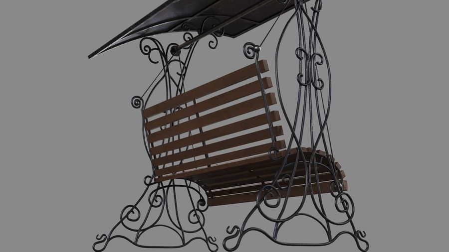 Bench Swing royalty-free 3d model - Preview no. 10