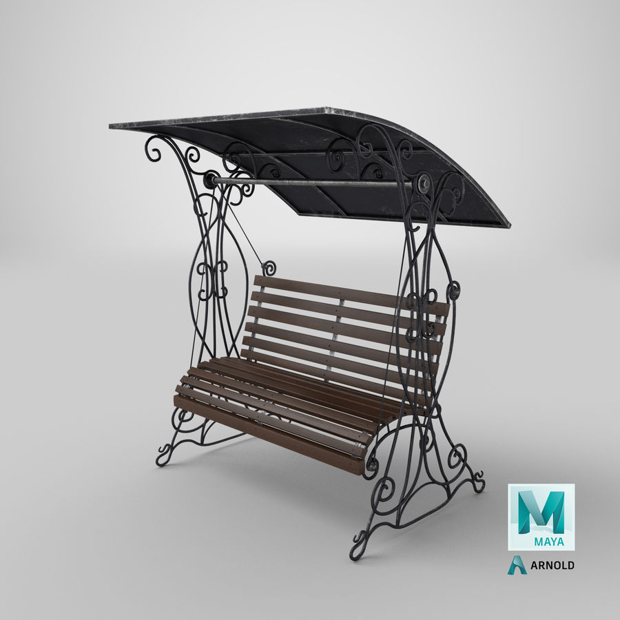 Bench Swing royalty-free 3d model - Preview no. 27