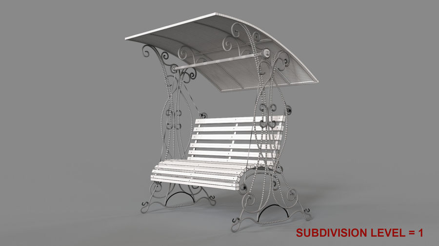 Bench Swing royalty-free 3d model - Preview no. 17