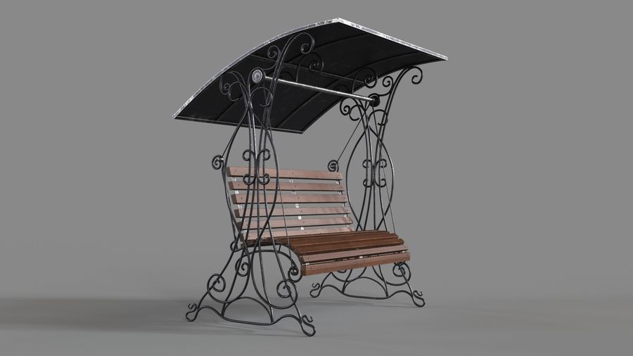 Bench Swing royalty-free 3d model - Preview no. 2