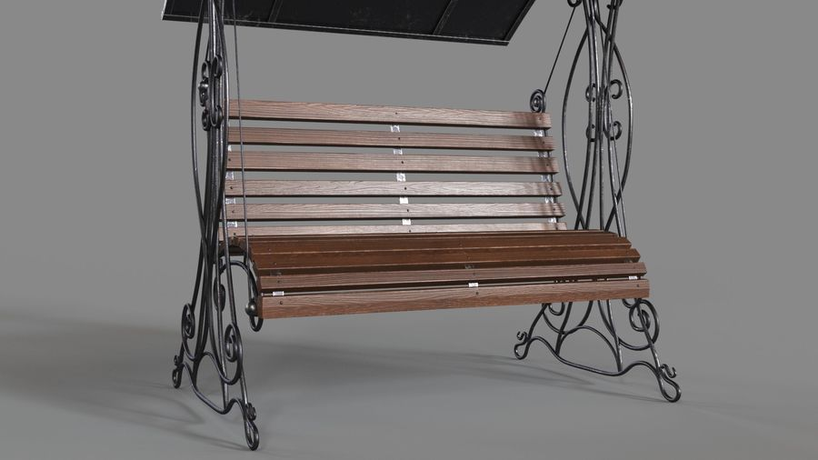 Bench Swing royalty-free 3d model - Preview no. 4