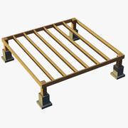 木建筑基础1 3d model