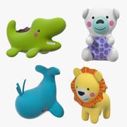 Giocattoli per animali in plastica per bambini 3d model
