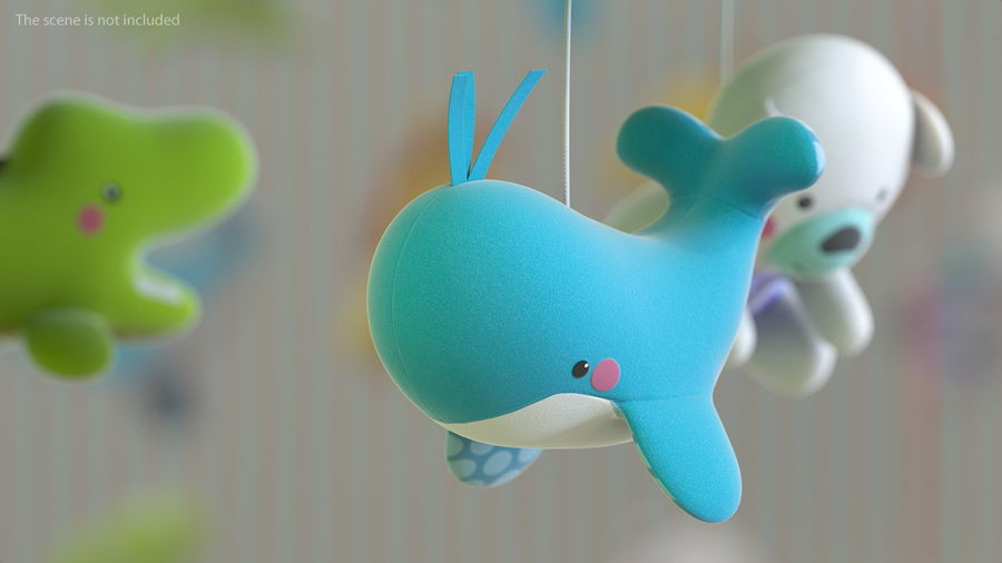 Baby Plastic Animal Toys royalty-free 3d model - Preview no. 7