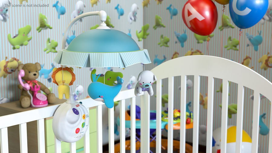 Baby Plastic Animal Toys royalty-free 3d model - Preview no. 3