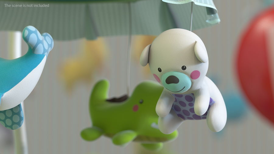Baby Plastic Animal Toys royalty-free 3d model - Preview no. 5
