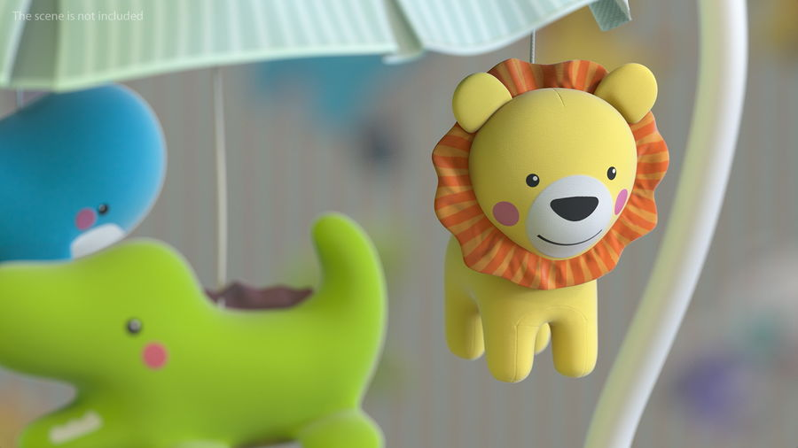 Baby Plastic Animal Toys royalty-free 3d model - Preview no. 4