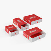 Karton Geschenkbox 3d model