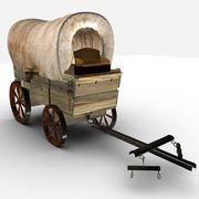 Wild west wagon 3d model
