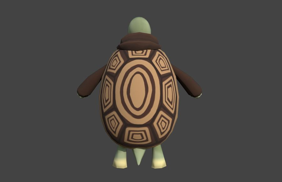 3D Cartoon Turtle royalty-free 3d model - Preview no. 5