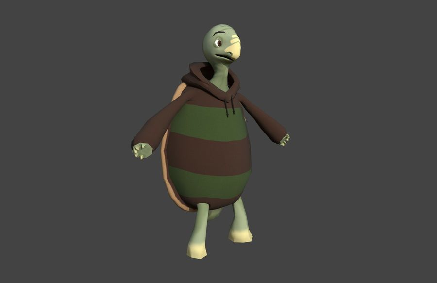 3D Cartoon Turtle royalty-free 3d model - Preview no. 4