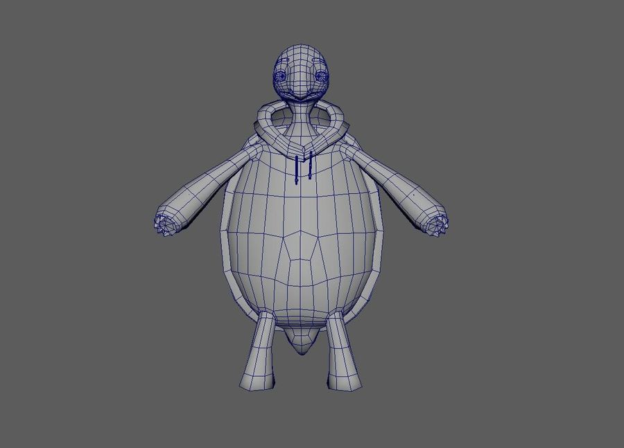 3D Cartoon Turtle royalty-free 3d model - Preview no. 6