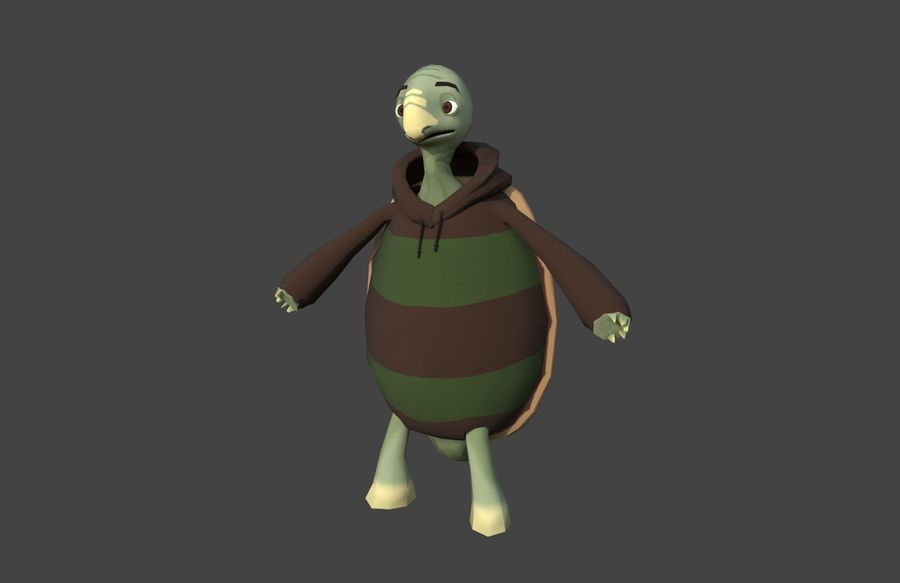 3D Cartoon Turtle royalty-free 3d model - Preview no. 1