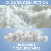 Nuages 3D - 20 PACK - VDB 3d model