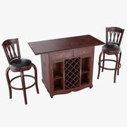 Mesa De Bar Com Cadeiras 3d model