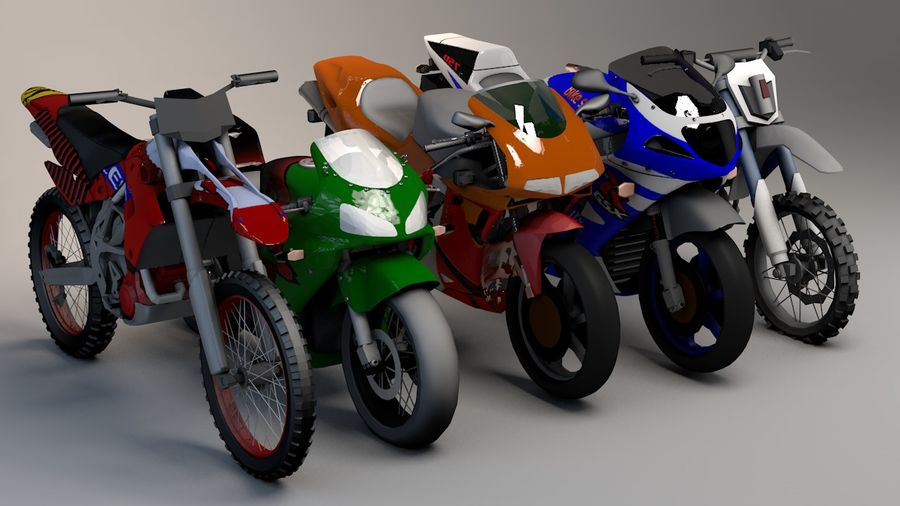 5'li Spor Bisiklet Paketi royalty-free 3d model - Preview no. 1