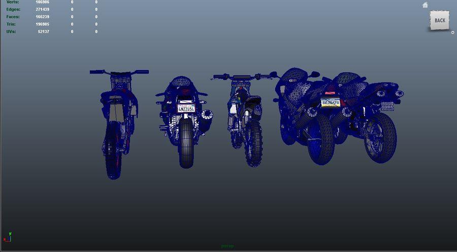 5'li Spor Bisiklet Paketi royalty-free 3d model - Preview no. 33