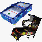 Arcade Air Hockey and Basketball 3d model
